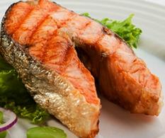 Стейк из красной рыбы