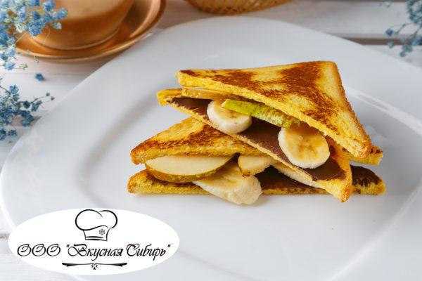 Сэндвич с бананом и грушей