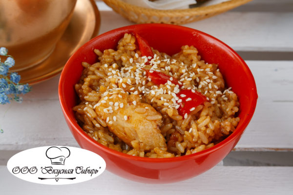 Японский рис с курицей