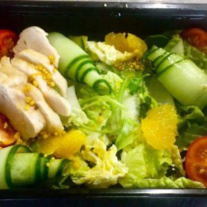 Салат с апельсином и куриным филе